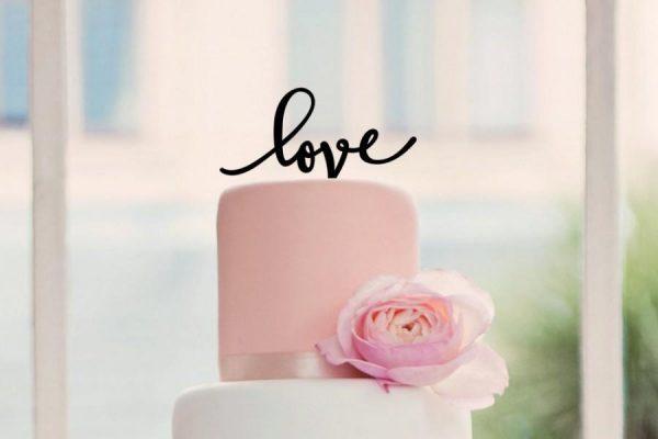 love wedding cake topper laser cut cake topper cute unique wedding cake topper rustic