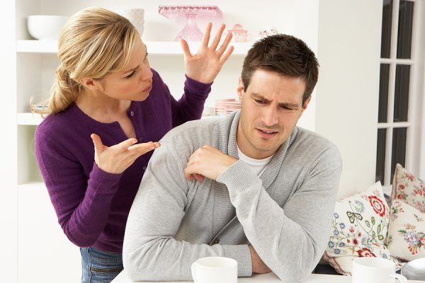 bigstock Couple Having Argument At Home 168581872