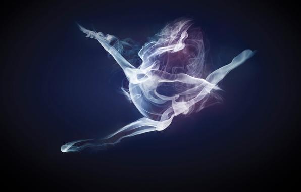 smoke dancer dym devushka tanec