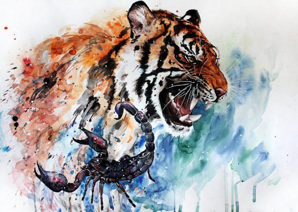 tiger and scorpion by elenashved d8tkokx
